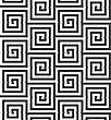 Geometric Background With Black And White Stripes. Seamless Monochrome Pattern With Zebra Effect.Alternating Black And White Cut Rounded Squares