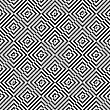 Geometric Background With Black And White Stripes. Seamless Monochrome Pattern With Zebra Effect.Alternating Black And White Diagonally Cut Squares
