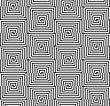 Geometric Background With Black And White Stripes. Seamless Monochrome Pattern With Zebra Effect.Alternating Black And White Half Squares With Shift