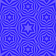 Geometric David Star Background. Ornamental Blue Pattern stock illustration