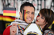 German Football Supporters stock photography