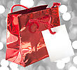 Gift bag Over Shiny Background stock photo