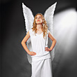 Girl As Angel stock photography
