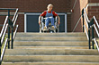 Girl in Wheelchair stock photography
