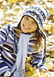 Girl with Hat and Scarf stock image