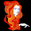 Hairstylists Girl With Long Hair stock illustration