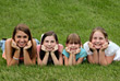 Girls Smiling stock image