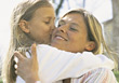 Giving Mother a Kiss stock photography