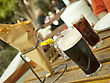 Glass Of Dark Beer Fish And Chips. Traditional British Snack On The Table stock image
