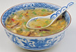Glass Noodle Soup In Bowl stock photo