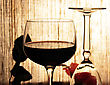 Glass Of Wine , Close Up Shot For Background stock image