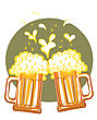 Glasses Of Beer.Vector Color Symbol Of Illustration For Design stock vector