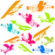 Gliders, Isolated Objects Over White stock illustration