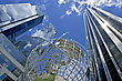 Downtown Globe At The Columbus Circle In New York City stock photography