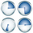 Measure Glossy Blue Timers Collection Over White stock illustration