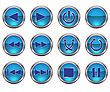 Glossy Icon. Buttons Set For Web Applications - Vector EPS10