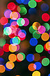 Glowing Christmas Lights Background In Abstract Image. stock photo