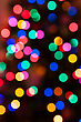 Glowing Christmas Lights Background In Abstract Image stock photo