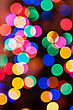 Glowing Christmas Lights Background In Abstract Image stock photography