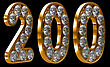 Golden 200 Two Hundred Numeral Incrusted With Diamonds. Other Numbers Are In My Portfolio