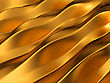 Golden Abstract Waves Pattern. Useful As Background