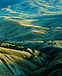 Golden Hills Under The Evening Sun. Scanned Film Source stock photography