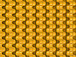 Golden Wavy Scales Pattern Useful As Background Or Texture
