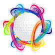 Golf Golf Ball As The Concept Of An International Tournament stock vector