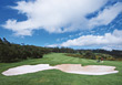 Golf Course Sand Trap stock photography
