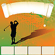 Golfer Silhouette Shooting, Web Template