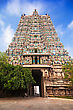 Gopuram Of Meenakshi Temple In Madurai, India stock image