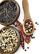 Gourmet Blend Of Wild And Whole Grain Brown Rice stock image