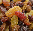 Gourmet Raisins Mix,Close Up stock photo