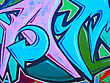 Graffiti abstract on wall stock image
