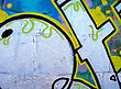 Graffiti on grey wall stock photography