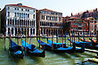 Grand Canal Of Venice With Gondolas, Italy stock photography