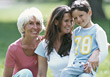 Grandmother, Daughter, and Grandson stock image