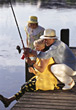 Retiring Grandparents Going Fishing stock photography