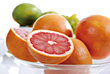 Grapefruits Halves stock image