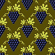 Grapes Seamless Pattern. Vine Background. Fruits And Vegetables Texture