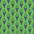 Grapes Seamless Pattern. Vine Background. Fruits And Vegetables Texture. Silhouettes Of Grapes