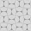 Gray Seamless Geometrical Pattern. Simple Monochrome Texture. Abstract Background.Slim Gray Wavy Striped Pin Will