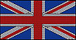 Striped Great Britain Flag (Union Jack) Assembled Of Diamonds. Over Black. Extralarge Resolution. Other Gems Are In My Portfolio. stock image
