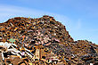Rubbish Greater Mountain Of Old Rusty Scrap Metal stock image