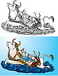 Greek Myth: The Abduction Of Europa By Zeus (black And White And Color Pictures
