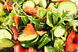 Greek Salad Close Up Picture. stock photography