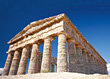 Greek Temples, Segesta, Sicily stock photography