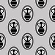 Greek Vase Seamless Pattern Isolated On Grey Background stock illustration