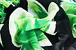 Green And Black Fabric As A Background. stock image