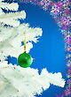 Green Ball Hanging On The Christmas Tree stock photography
